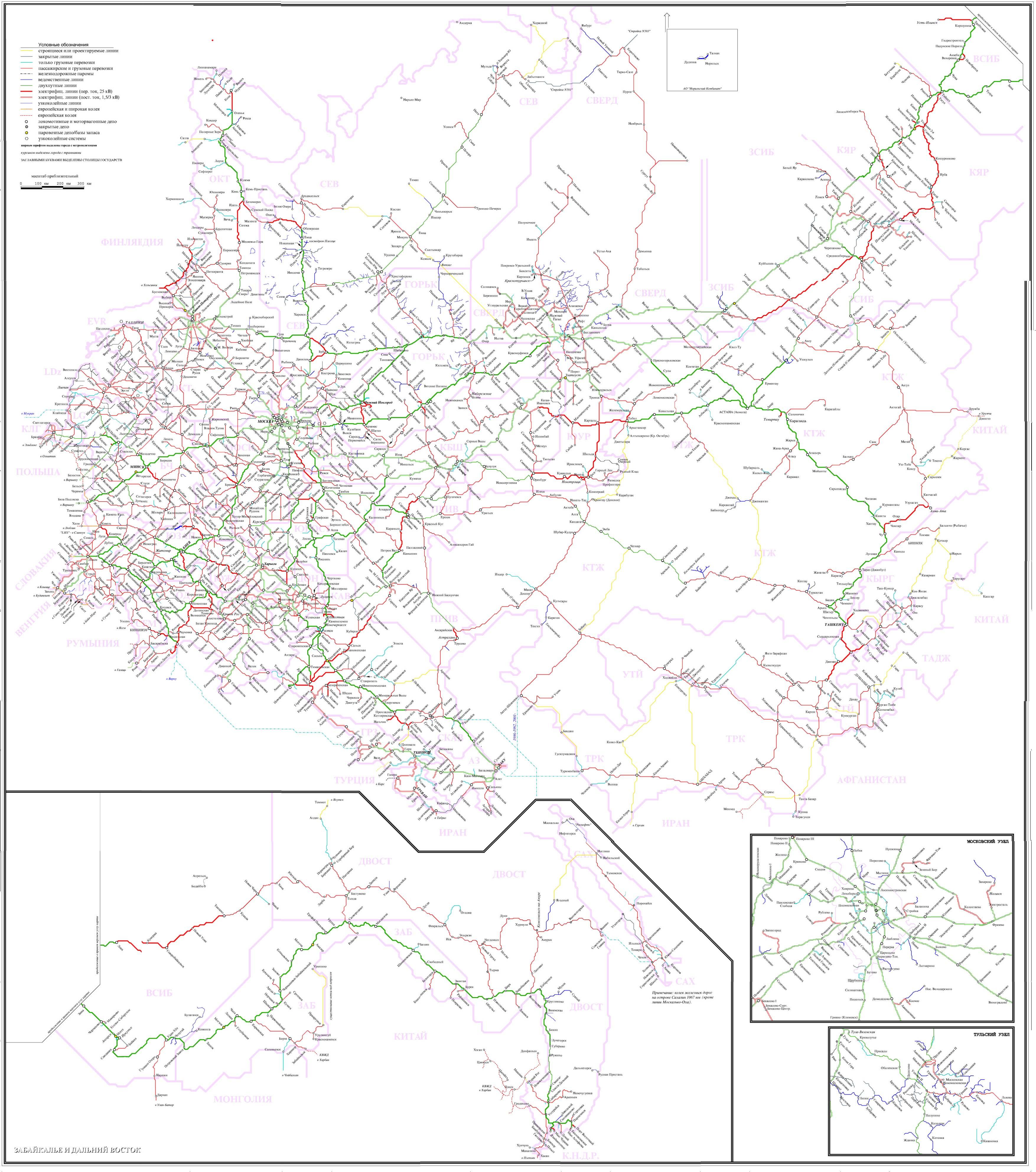 俄罗斯铁路地图